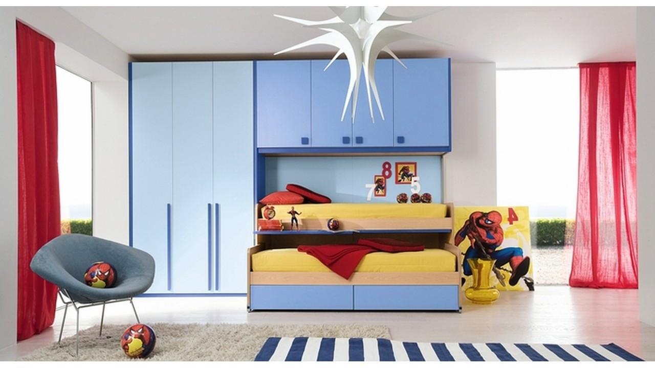 Kamar tidur anak superhero