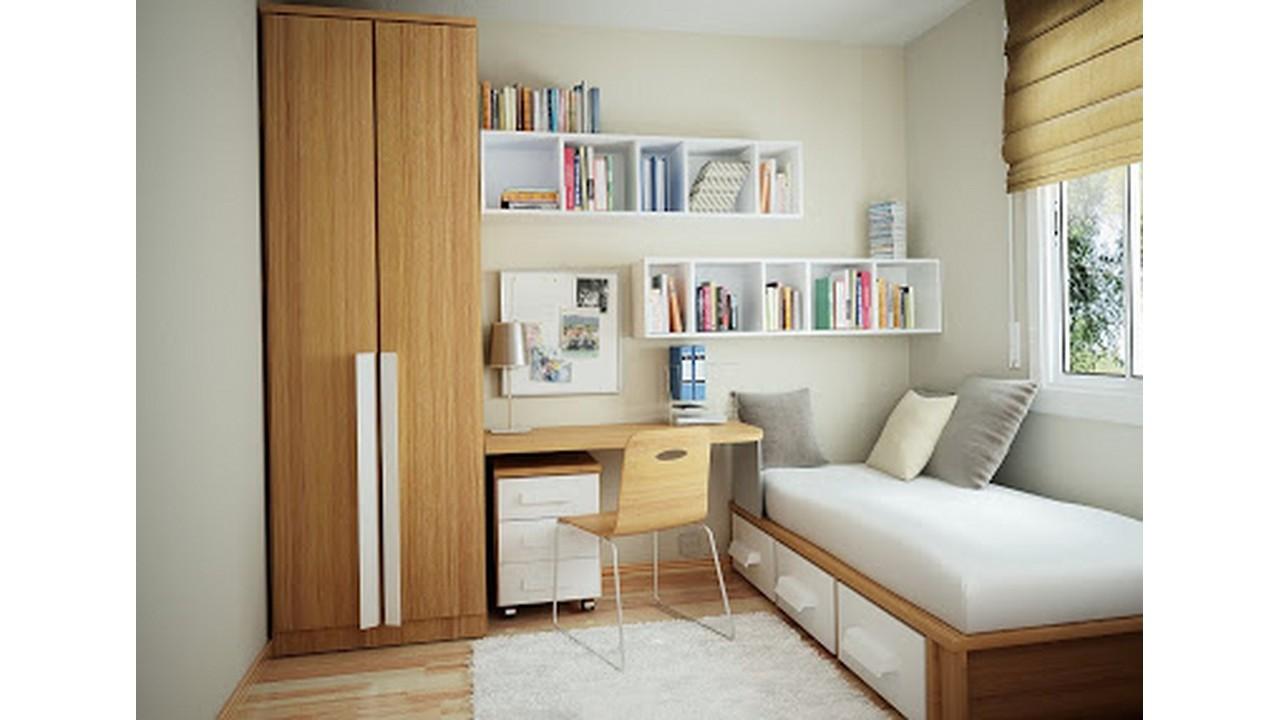 Kamar Tidur Minimalis Rak Dinding