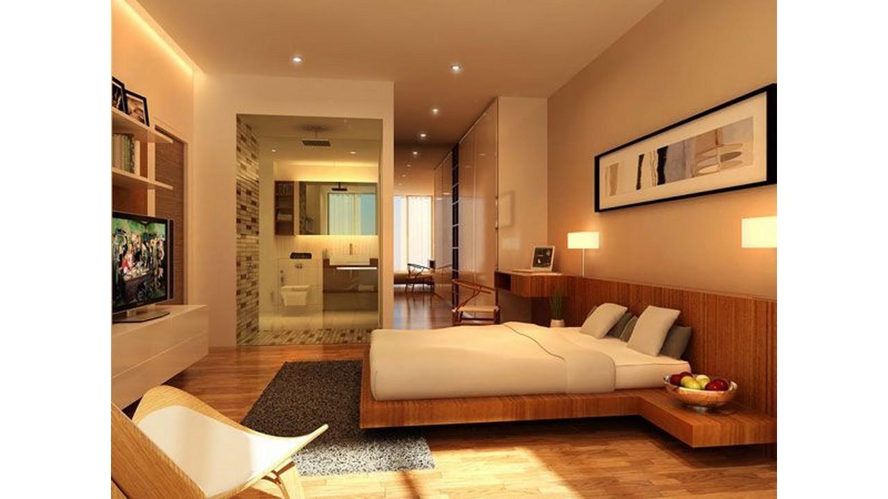 Kamar Tiidur Modern dengan Kamar Mandi
