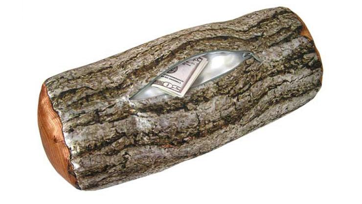 Bantal guling kayu dompet