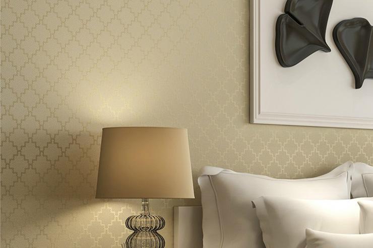 Wallpaper kamar tidur gold