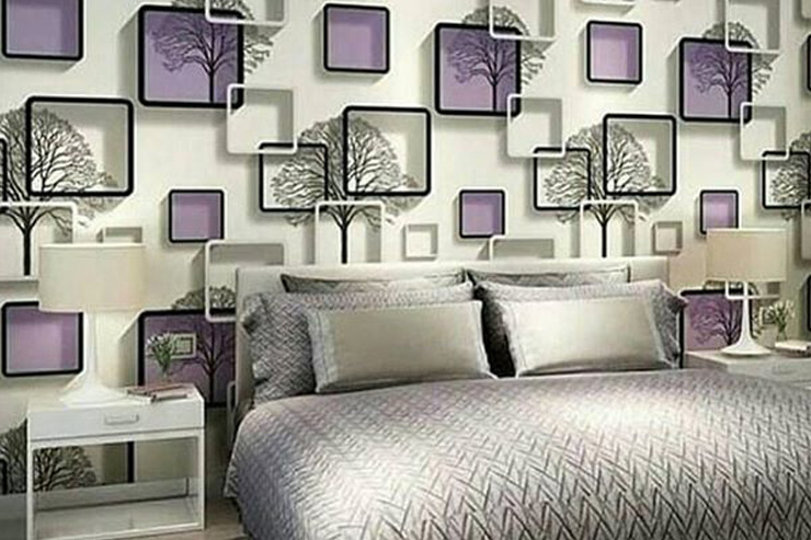 Wallpaper kamar tidur kubus